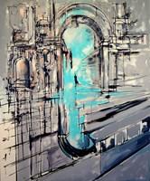 Obraz do salonu artysty Łukasz Jankiewicz pod tytułem  Metropolis, Triumphal arch