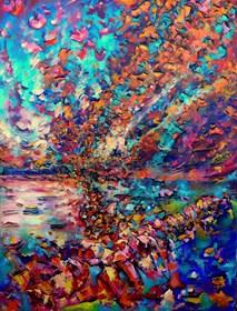 Obraz do salonu artysty Łukasz Jankiewicz pod tytułem Wszystko jest Energią 6