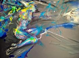 Obraz do salonu artysty Łukasz Jankiewicz pod tytułem Czekając na błękit