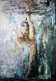 Living room painting by J. Aurelia Sikiewicz-Wojtaszek titled key