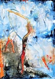 Obraz do salonu artysty J. Aurelia Sikiewicz-Wojtaszek pod tytułem COLORS OF GYMNASTICS