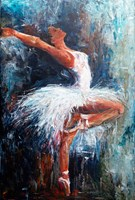 Living room painting by J. Aurelia Sikiewicz-Wojtaszek titled Ballet dancer I
