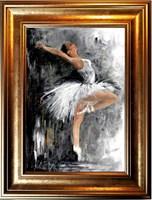 Obraz do salonu artysty J. Aurelia Sikiewicz-Wojtaszek pod tytułem Baletnica III