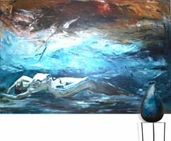 Living room painting by J. Aurelia Sikiewicz-Wojtaszek titled Desire for depth
