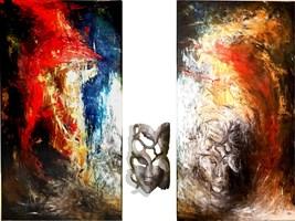 Living room painting by J. Aurelia Sikiewicz-Wojtaszek titled  Enigmatic breath of passion