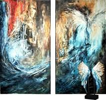 Living room painting by J. Aurelia Sikiewicz-Wojtaszek titled Mystical glow