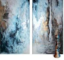 Living room painting by J. Aurelia Sikiewicz-Wojtaszek titled  Fleeting dancers