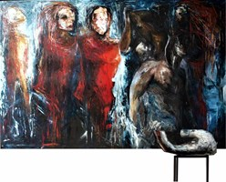 Living room painting by J. Aurelia Sikiewicz-Wojtaszek titled Illusion