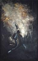 Living room painting by J. Aurelia Sikiewicz-Wojtaszek titled  Angel Poem