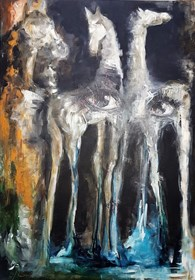 Living room painting by J. Aurelia Sikiewicz-Wojtaszek titled  Vision