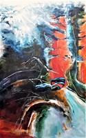 Living room painting by J. Aurelia Sikiewicz-Wojtaszek titled Deep