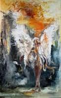 Living room painting by J. Aurelia Sikiewicz-Wojtaszek titled Angel