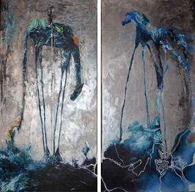 Obraz do salonu artysty J. Aurelia Sikiewicz-Wojtaszek pod tytułem Gwiezdny blask