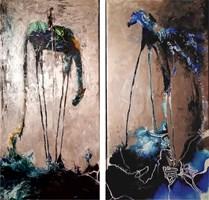 Living room painting by J. Aurelia Sikiewicz-Wojtaszek titled Starlight