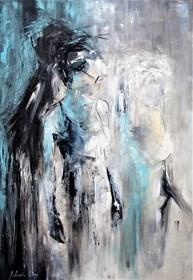 Obraz do salonu artysty J. Aurelia Sikiewicz-Wojtaszek pod tytułem Przyjaźń