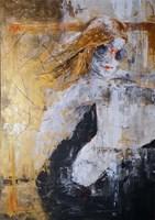 Obraz do salonu artysty J. Aurelia Sikiewicz-Wojtaszek pod tytułem ZŁOTOWŁOSA