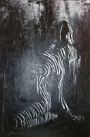 Obraz do salonu artysty J. Aurelia Sikiewicz-Wojtaszek pod tytułem BLASK KSIĘŻYCA