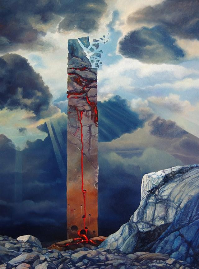 Obraz do salonu artysty Piotr Horodyński pod tytułem Pneuma