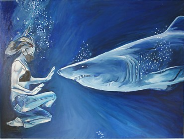 Obraz do salonu artysty Ilona Foryś pod tytułem Blue Ocean