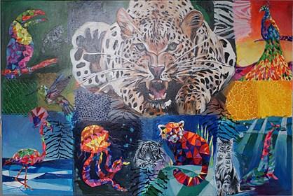 Obraz do salonu artysty Ilona Foryś pod tytułem Dzika natura