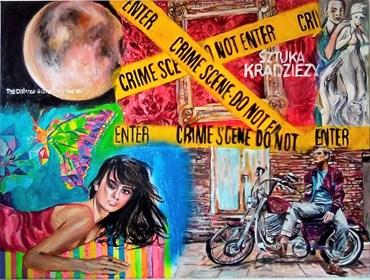 Obraz do salonu artysty Ilona Foryś pod tytułem Magazine Collage9