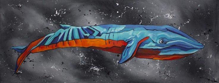 Obraz do salonu artysty Monika Mrowiec pod tytułem Pływak doskonały