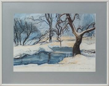 Living room painting by Agnieszka Korczak titled Winter