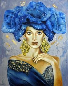 Obraz do salonu artysty Marlena Selin pod tytułem Blue Rosa