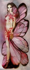 Obraz do salonu artysty Marlena Selin pod tytułem Nocny motyl