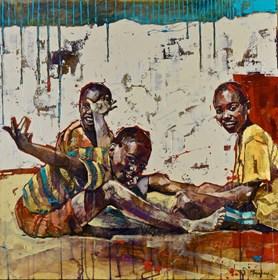 Obraz do salonu artysty Marcin Mikołajczak pod tytułem Smak przyjaźni