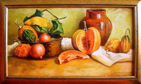 Obraz do salonu artysty Beata Krystek-Borkowska pod tytułem Martwa natura z dyniami