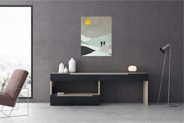 PANDA MOOD IN THE GOLDEN MOONLIGHT - wizualizacja pracy autora Urszula Teperek
