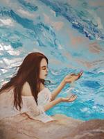 Obraz do salonu artysty Patrycja Kruszynska-Mikulska pod tytułem Świat w ziarenku piasku