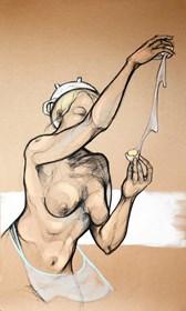 Obraz do salonu artysty Aleksandra Wiszniewska pod tytułem Omlet czy sadzone