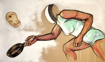 Obraz do salonu artysty Aleksandra Wiszniewska pod tytułem Smażenie naleśników