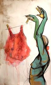 Obraz do salonu artysty Aleksandra Wiszniewska pod tytułem Pranie