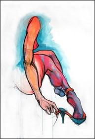Obraz do salonu artysty Aleksandra Wiszniewska pod tytułem Kopciuszek po balu