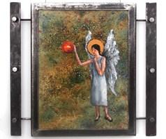 Obraz do salonu artysty Jan Bembenista pod tytułem Anioł w kosmosie
