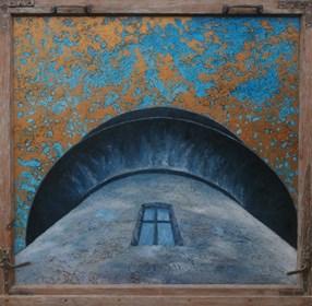 Obraz do salonu artysty Jan Bembenista pod tytułem Pod wieżą