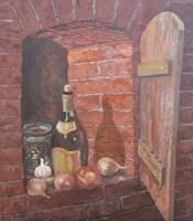 Obraz do salonu artysty Jan Bembenista pod tytułem Martwa natura-piwniczna