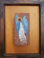 Obraz do salonu artysty Jan Bembenista pod tytułem Anioł na cegle