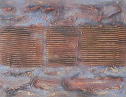 Obraz do salonu artysty Jan Bembenista pod tytułem Z cyklu ,,Mury''-Ciągłość