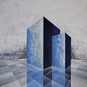 Obraz do salonu artysty Iwona Gabryś pod tytułem Bryły nr 5