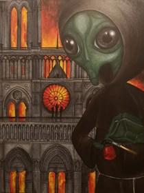 """Obraz do salonu artysty Estera Parysz-Mroczkowska pod tytułem """"Luciferum"""""""