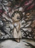 """Obraz do salonu artysty Estera Parysz-Mroczkowska pod tytułem """"Blood Diamond"""""""