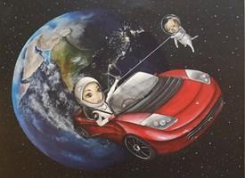 """Obraz do salonu artysty Estera Parysz-Mroczkowska pod tytułem """"Per aspera ad astra"""""""