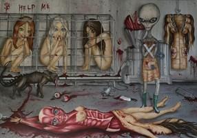 Obraz do salonu artysty Estera Parysz-Mroczkowska pod tytułem Naked Ape