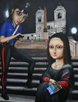 Obraz do salonu artysty Estera Parysz-Mroczkowska pod tytułem Leonardo versus law