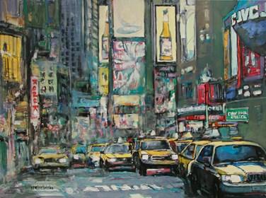 Obraz do salonu artysty Piotr Rembieliński pod tytułem Melodie miasta, NYC