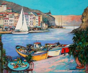 Obraz do salonu artysty Piotr Rembieliński pod tytułem Ricordi i nostri giorni felici a Portofino ?